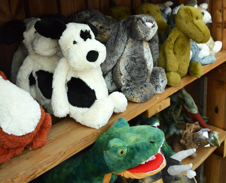 Dog, Rabbit & Dinosaur Plush Toys